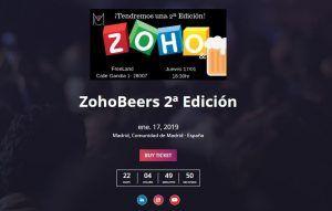 Zoho Backstage beers