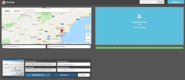 Herramienta para añadir datos de geolocalización imágenes