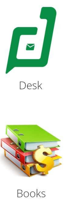 zoho desk y books